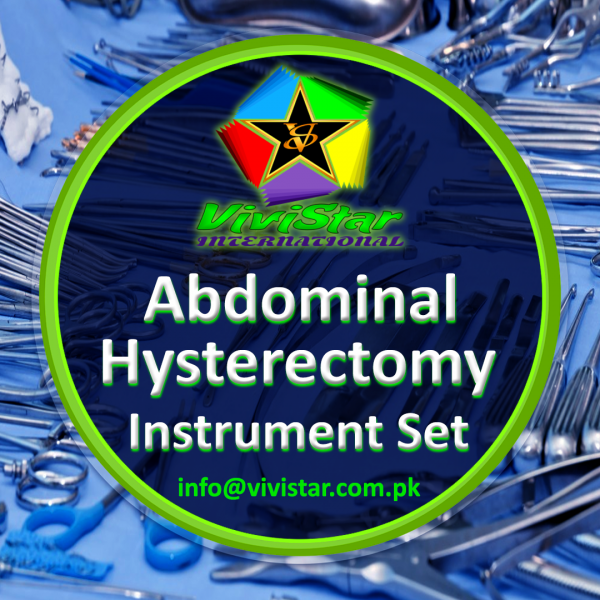 Abdominal Hysterectomy Instrument Set
