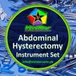 Abdominal Hysterectomy Instrument Set