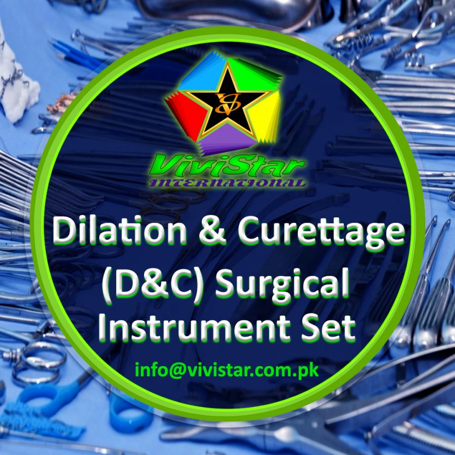 Dilation & Curettage (D&C) Surgical Instrument Set